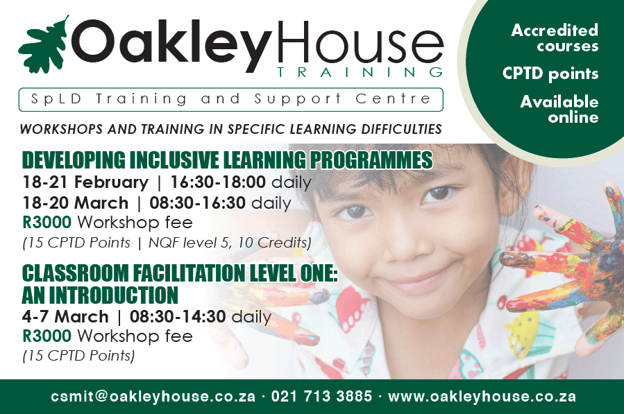 Oakley House Workshops and Training 2019