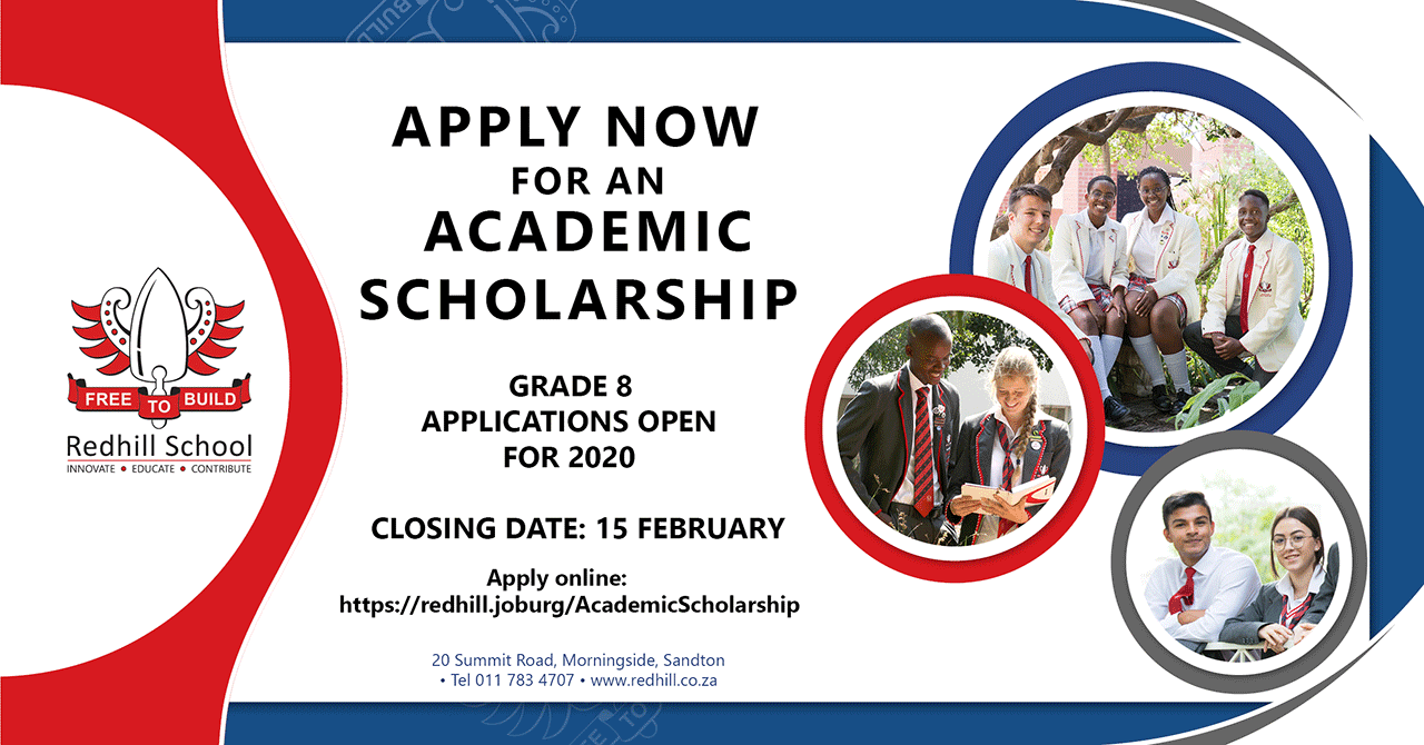 Redhill School Academic Scholarships for 2020