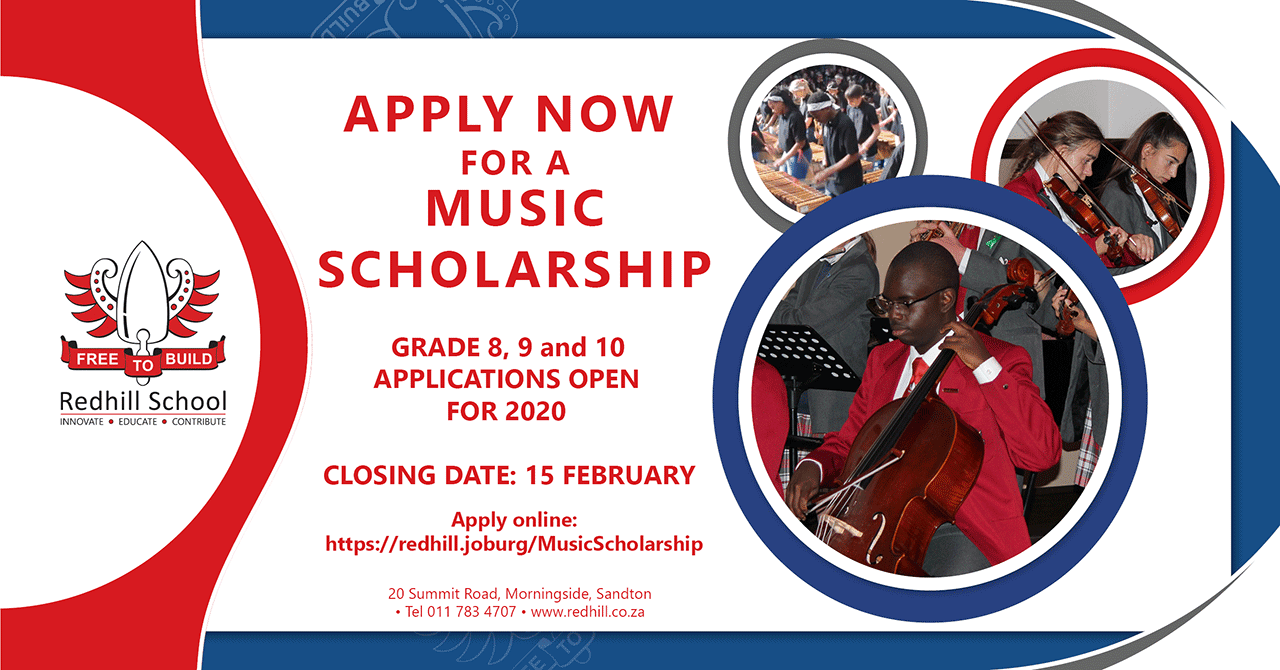 Redhill School Music Scholarships for 2020