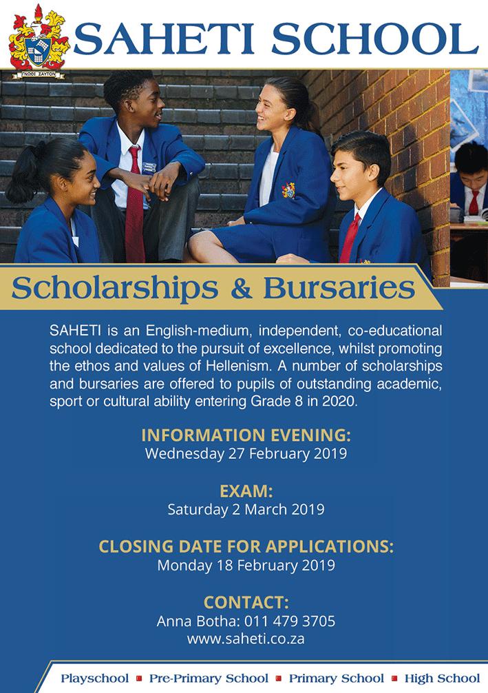 SAHETI School Scholarships and Bursaries