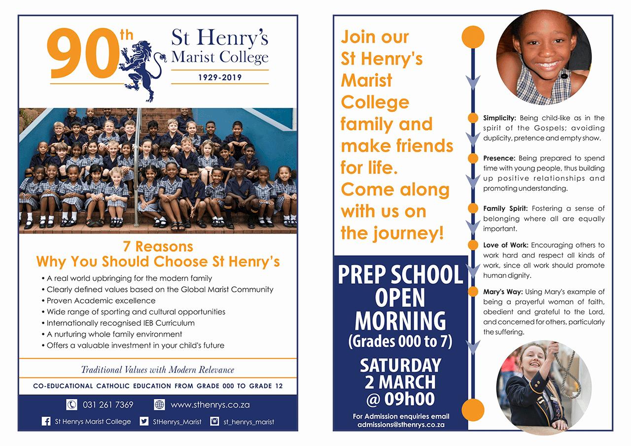 St Henry's Primary School Open Morning 2019