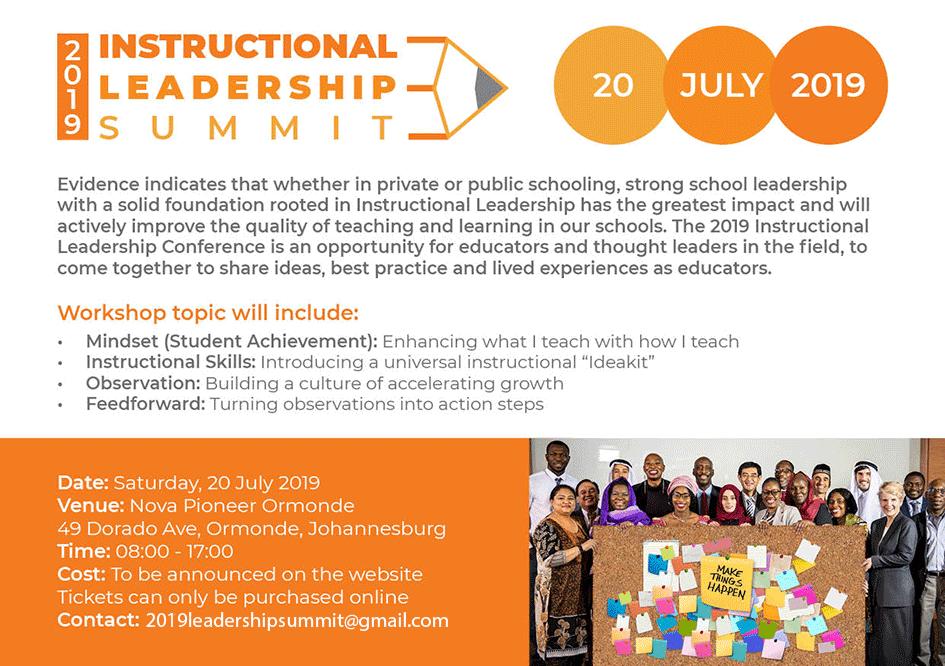 Instructional Leadership Summit Invitation