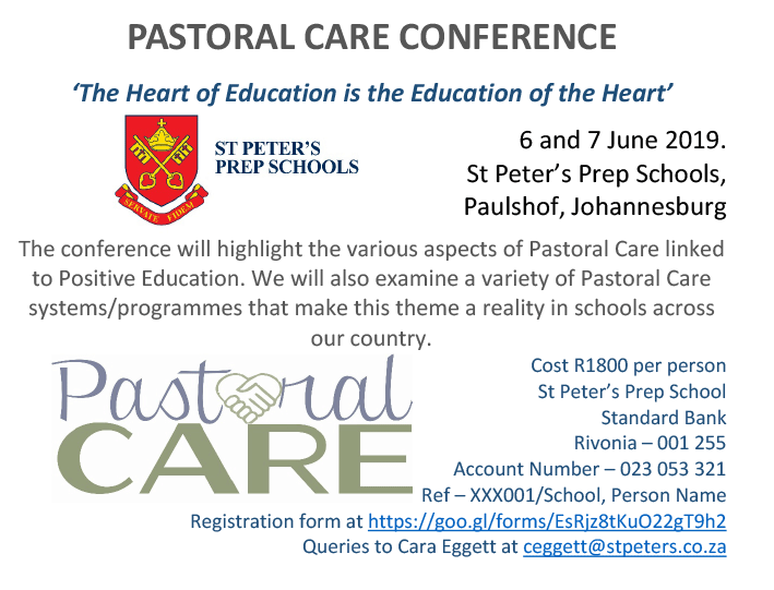 Pastoral Care Conference 2019