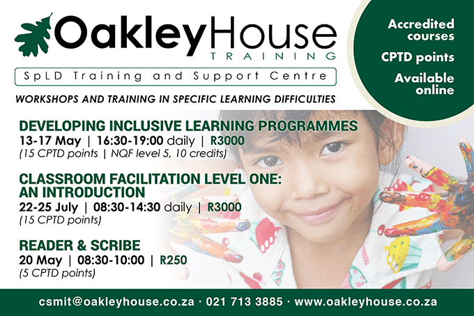 Oakley House Training and Workshops May 2019