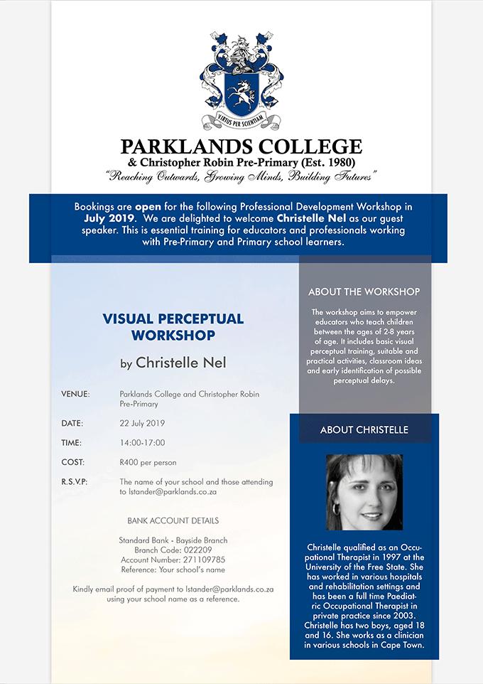 Visual and Perceptual Workshop at Parklands College