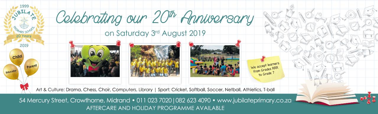 Jubilate Primary 20th Anniversary Celebrations