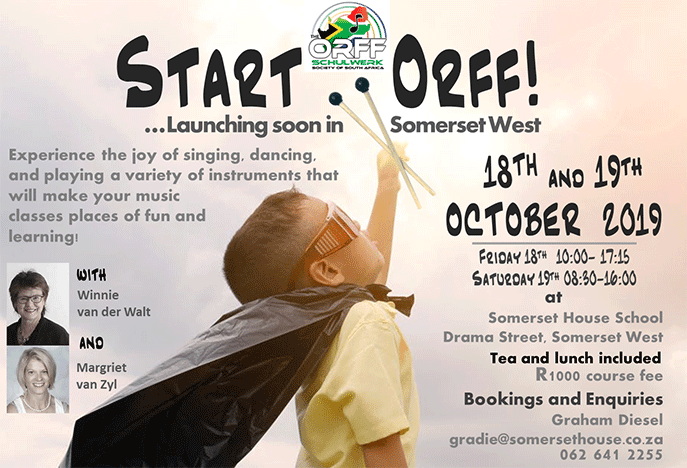 Start Orff! launcing soon in Somerset West