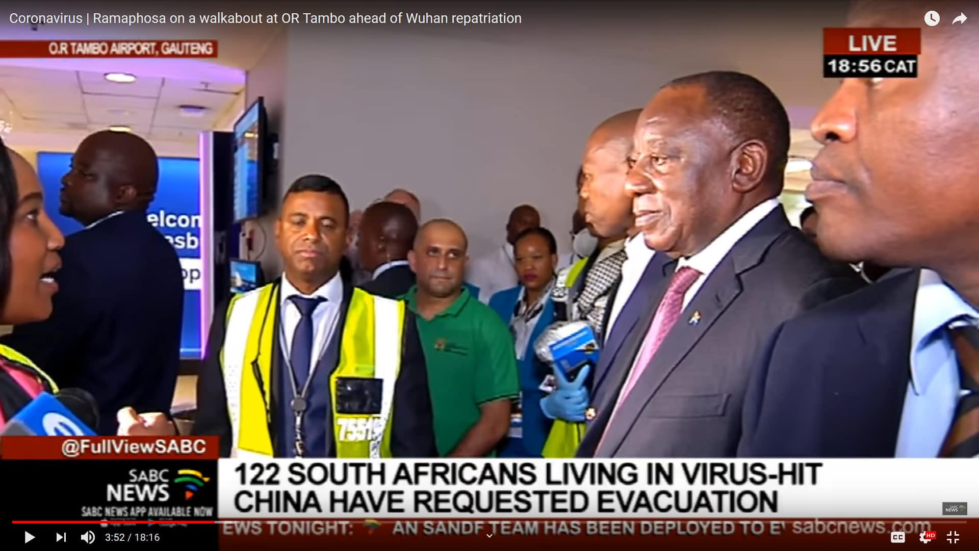 South African Team Travelling To Wuhan Are Heroes President Ramaphosa Isasa