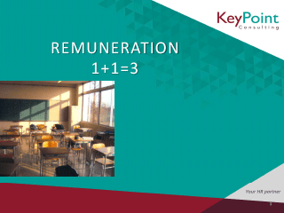 Remuneration Strategy for Schools